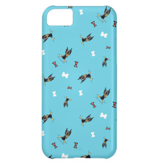 Miniature Pinschers Bows and Bones Blue iPhone 5C Case