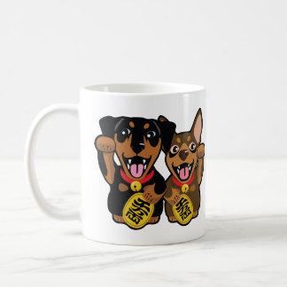 Miniature Pinschers Min Pin Lucky Dogs Coffee Mug