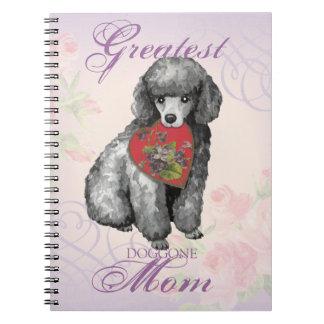 Miniature Poodle Heart Mom Notebooks
