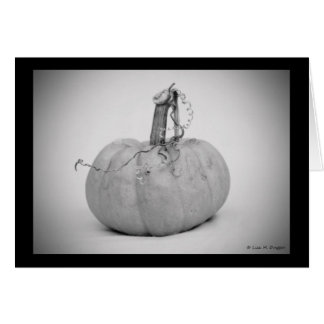 Miniature pumpkin greeting card