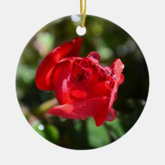 Miniature Red Rose Ornament
