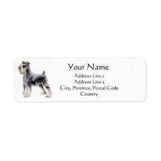 Miniature Schnauzer Address Labels