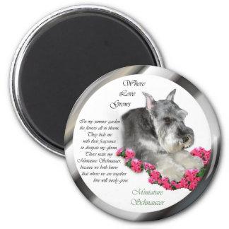 Miniature Schnauzer Art Gifts Magnet