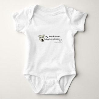 miniature schnauzer baby bodysuit