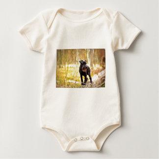 miniature-schnauzer baby bodysuit