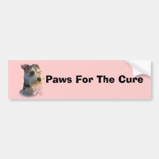 Miniature Schnauzer Breast Cancer Bumper Sticker