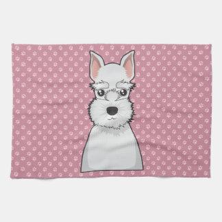Miniature Schnauzer Cartoon Tea Towel