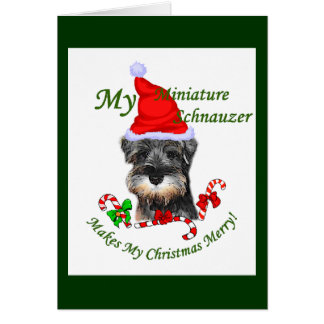 Miniature Schnauzer Christmas Gifts Card