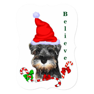 Miniature Schnauzer Christmas Merry Card