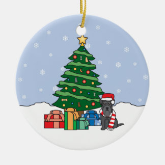 Miniature Schnauzer Christmas Ornament