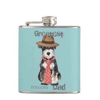 Miniature Schnauzer Dad Hip Flask