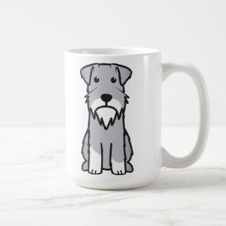Miniature Schnauzer Dog Cartoon Coffee Mug