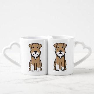 Miniature Schnauzer Dog Cartoon Couple Mugs