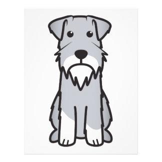 Miniature Schnauzer Dog Cartoon Flyer