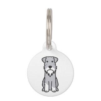 Miniature Schnauzer Dog Cartoon Pet Name Tag