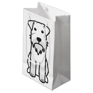 Miniature Schnauzer Dog Cartoon Small Gift Bag