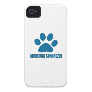 MINIATURE SCHNAUZER DOG DESIGNS iPhone 4 Case-Mate CASE