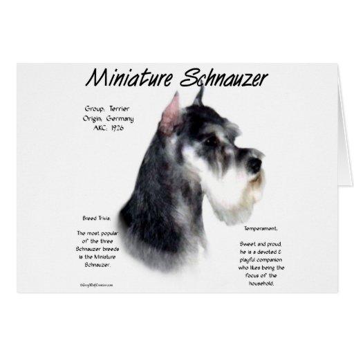 Miniature Schnauzer History Design Greeting Card
