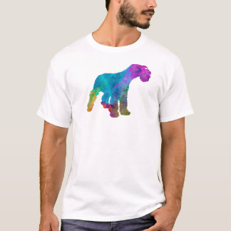 Miniature Schnauzer in watercolor T-Shirt