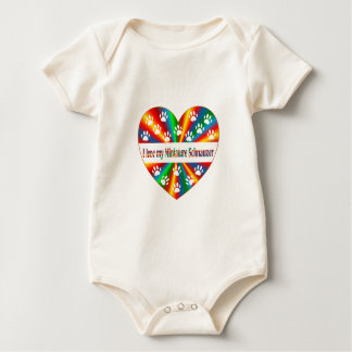 Miniature Schnauzer Love Baby Bodysuit