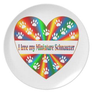 Miniature Schnauzer Love Plate