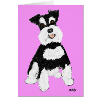 Miniature Schnauzer Note Card