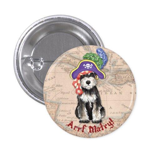 Miniature Schnauzer Pirate Buttons