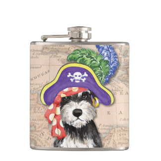Miniature Schnauzer Pirate Hip Flask