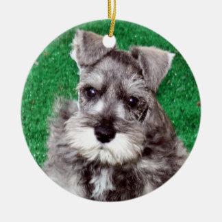 Miniature Schnauzer Puppy Dog Ornament
