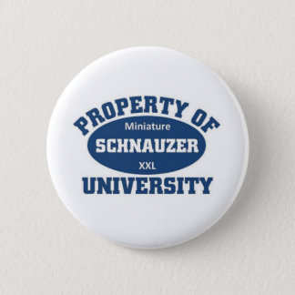 Miniature Schnauzer University 6 Cm Round Badge