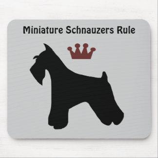 Miniature Schnauzers Rule Mousepad