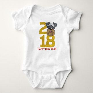 Miniature Schnauzers Year of the Dog 2018 New Year Baby Bodysuit
