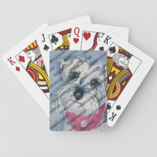 MINIATURE SILVER SCHNAUZER PLAYING CARDS