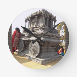 Miniature statues stone craft temples of india wallclock