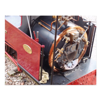 Miniature Steam Locomotive Boiler Postcard
