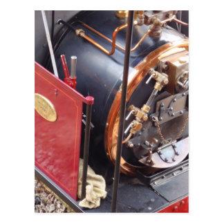 Miniature Steam Locomotive Boiler Post Card
