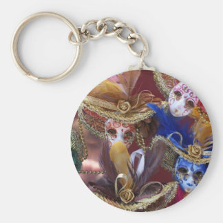 miniature Venetian masks Basic Round Button Key Ring