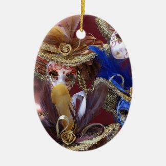 miniature Venetian masks Ceramic Ornament