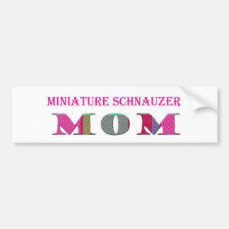 MiniatureSchnauzerMom Car Bumper Sticker