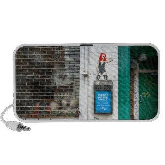 Minicab graffiti girl notebook speakers