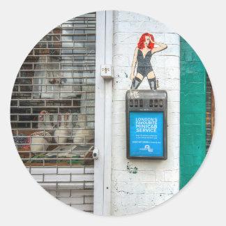 Minicab graffiti girl stickers