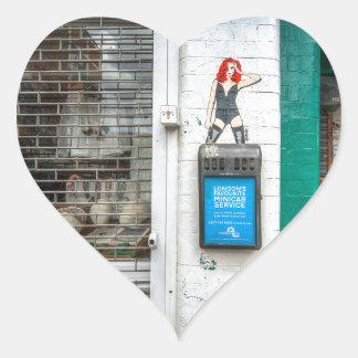 Minicab graffiti girl heart stickers