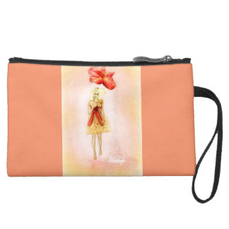 Miniclutch of before customized suede wristlet