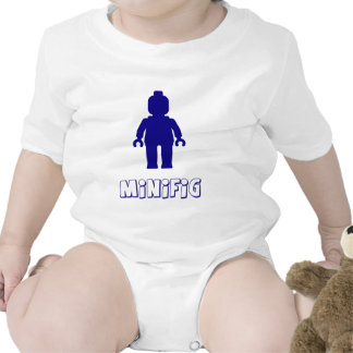 Minifig [Dark Blue] by Customize My Minifig Baby Bodysuits
