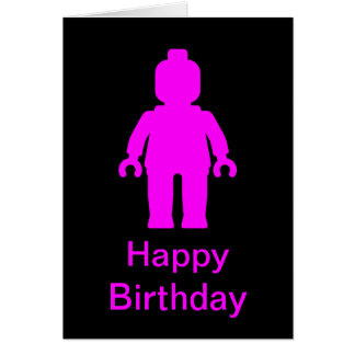 Minifig [Dark Pink] Happy Birthday Card