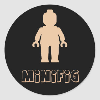 Minifig [Flesh Pink] by Customize My Minifig Sticker