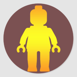 Minifig [Golden] by Customize My Minifig Round Sticker