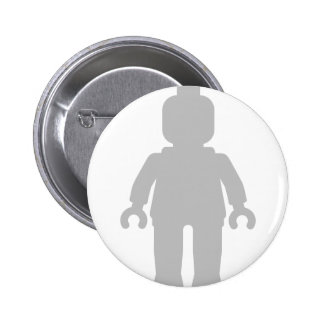 Minifig [Large Light Grey] by Customize My Minifig Pinback Button