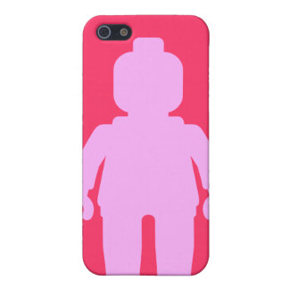 Minifig [Large Light Pink] by Customize My Minifig Case For iPhone 5