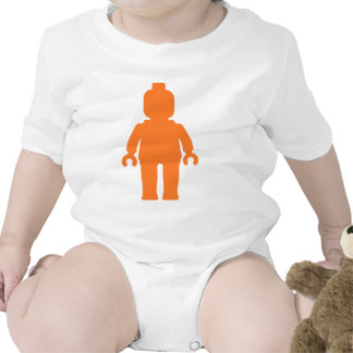 Minifig [Large Orange] by Customize My Minifig Baby Bodysuits
